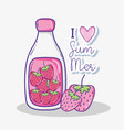 i love summer cartoons vector image vector image