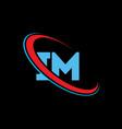 im i m letter logo design initial letter im vector image vector image