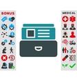 Index Box Icon vector image