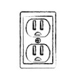 isolated electric plug vector image vector image