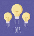 light bulb idea icon vector image vector image