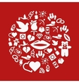 love icons in circle vector image vector image