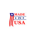 made in usa icon america flag vector image vector image