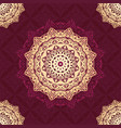 mandala pattern design background with red and vector image vector image