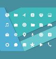 Modern smartphone icons set different web icons