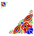 Moravian folk ornament vector image