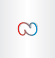 n letter logo icon vector image