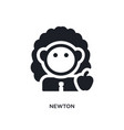 newton isolated icon simple element from science vector image vector image