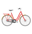 old city bicycle vintage red bike isolated vector image