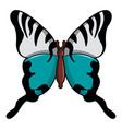 papilio palinurus butterfly icon cartoon style vector image