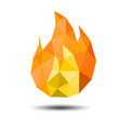 polygon fire icon on white background vector image vector image