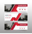 red triangle abstract polygon corporate business vector image vector image