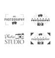 Retro Photography Badges Labels Monochrome vector image vector image