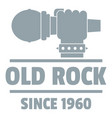 retro rock music logo simple gray style vector image