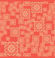 seamless geometric pattern with ornamental squares vector image vector image