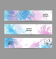 set banner templates modern abstract design vector image vector image