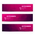 set modern horizontal banners vector image