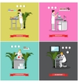 set of banners posters with scientific vector image vector image