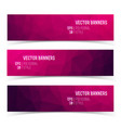 set of modern horizontal banners vector image