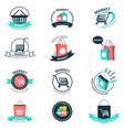 shopping and market logos vector image vector image