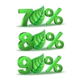 Spring Percent discount icon vector image vector image