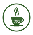 tea time icon vector image vector image