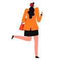 teenage girl or student woman back view vector image vector image