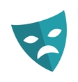 theater mask isolated icon vector image vector image