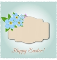 Vintage Easter Card vector image
