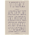 vintage handwriting font vector image