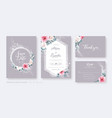 wedding invitation card save date rsvp set vector image vector image