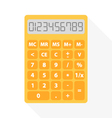 yellow calculator vector image