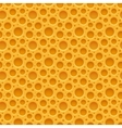Yellow seamless plastic background with holes vector image vector image