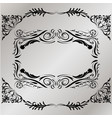 decorative frame retro black frame on gray vector image
