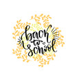 back to school banner handwritten lettering vector image
