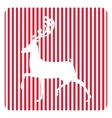 Creative retro Merry Christmas greeting card vector image