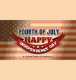 independence day background fourth of july vector image