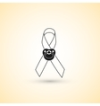 Ribbon icon with baby nipple as symbol of vector image
