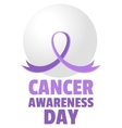 Cancer Awareness Day vector image
