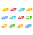 3d button icon vector image vector image