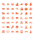 49 transportation icons vector image vector image