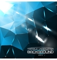 Abstract triangle underwater background with vector image vector image