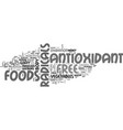 antioxidant food supplements text word cloud vector image vector image