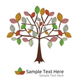 autumn tree template vector image vector image
