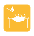 Barbecue Boar Matches icon vector image vector image