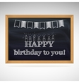 Birthday greetings on schoolboard vector image vector image