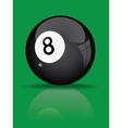 black billiard ball vector image