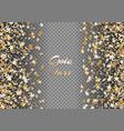 bright confetti star vector image vector image