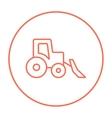 Bulldozer line icon vector image vector image