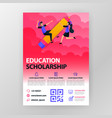 business seminar posters about learning vector image vector image